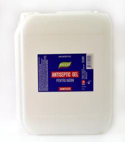 Антибактериальный гель для рук ECCO antiseptic gel 5л